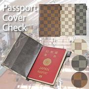 【旅行 パスポート】パスポートケース チェック ブラウン 黒 白 カバー レディース メンズノベルティ