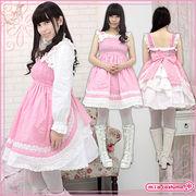 1136E★MB■送料無料■ シャーリングジャンパースカート 色:ピンク サイズ:M/BIG