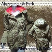 正規品【Abercrombie&Fitch】アバクロ★コート★レディース★ロングジャケット★カーキ