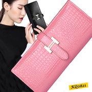 【ピンク他全6色】本革財布 牛革 女性へのプレゼントに最適な長財布 ロングウォレット 可愛い