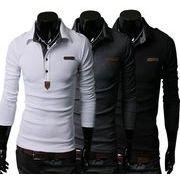 ポロシャツ Tシャツ カットソー 長袖 エポレット ゴルフウェア トップス カジュアル メンズファッション
