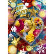3Dポストカード クリスマスオーナメント アリス  (ディズ二ー)【クリスマス】
