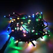【ミックスMIXカラー】イルミネーションLEDライト100球 10m 防雨仕様 コントローラ付