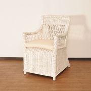 【ラタン家具】 リゾートチェア ホワイト (天然ラタン使用)(直送可能)