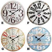"""アンティークデザインの壁掛け時計に新デザイン★【ウォールクロック""""34cm""""】4種チョイス♪"""