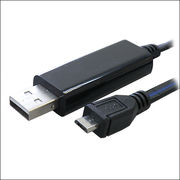 【0.8m】MicroUSB-USBケーブル/LED発光