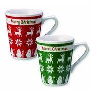 クリスマスマグカップ(1個入) /クリスマス マグカップ イベント ギフト ノベルティ
