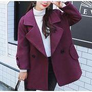 コート 無地 ボタン 韓国風 体型カバー r3001931