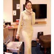 【即納】タートルネックワンピース/春/全4色★v-g741b-660【自社工場】レディース/ドレス