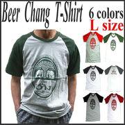 【即納OK】 ★Chang BeerラグランTシャツ6色◆★ラグランTシャツ・Lサイズ(Chang Beer)★