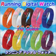 【注目!!】ジョギングやアウトドアに最適!生活防水/防水ランニングデジタルウォッチ  10色