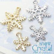 "★L&A original charm★雪の結晶チャーム★K16GP&本ロジウム★""snow crystal"""