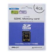 グリーンハウス SDメモリカード 4GB Class4 SDHC-4GP4(441) 00940435
