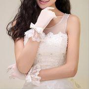 新しい 結婚式 花嫁 ブライダルグローブ ブライダルドレス 手袋 ドレス レース 短い手袋