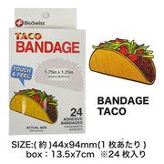 Bandage タコス バンドエイド 絆創膏 TACO アメ雑 アメリカ雑貨