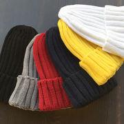 ☆20%OFF☆【人気カラー6色】オールシーズン使える♪ リブ網みシンプルカラーニット帽