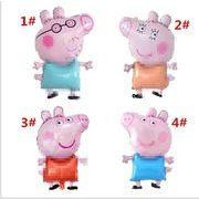 豚の妹 ペテンをつける 豚 アニメ アルミニウム膜風船 子供の誕生日 パーティー 装飾品 シーンの配置