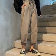 韓国 スタイル ファッション レディース 2019 ゆったり カジュアル ボトムス 長ズボン ロングパンツ パンツ