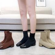 韓国 スタイル ファッション イージー 存在感抜群 靴 ショート ブーツ