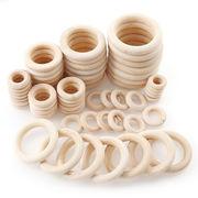 木製リング ウッドリング 原木色 6サイズ20ー60mm アクセサリー DIY 手作り 手芸 デコパーツ