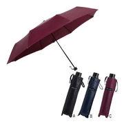 (傘)(機能傘/コンパクト傘)コムデコム 60cmレザータッチ耐風折りたたみ傘 61-6030