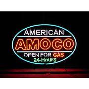 アメリカン雑貨 看板 ネオンサイン AMOCO 24HRS