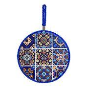 <AMANO>【鍋敷き】トリベットアラベスク・ブルー
