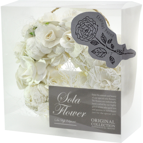 〇2019 new Sola Flower ソラフラワー Wreath リース Eternal Peony エターナル ピオニー