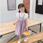 【韓国ファッション】 バックドレス 子供服 キッズ 児童 夏 韓国 ファッション