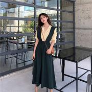 雑志で绍介されました  ハイウエスト サスペンダースカート sweet系 可愛い カジュアル カレッジ風