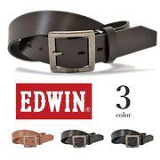【全3色】 EDWIN エドウイン プレーンリアルレザー ベルト メンズ レディース 男女兼用 エドウィン