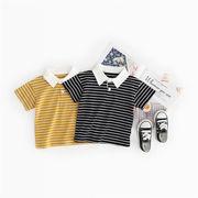 夏★子供服★男の子★キッズシャツ★Tシャツ★しま★POLO★80-130