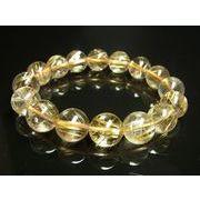 特選品質 現品一点物 タイチンルチルブレスレット 虹入り金針水晶数珠 13ミリ 52g TKR14
