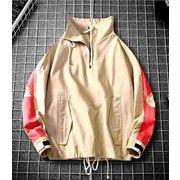 メンズ新作ジャケット コート トップス長袖 カジュアル ホワイト/ブラック/ベージュ3色