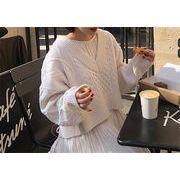 自主撮影 大人気 新品 減齢 Vネック 短いスタイル セーター ロング ワンビース 2点セット