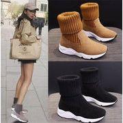 とてもファッション INSスタイル 厚底 簡約 カジュアル 暖かい 快適である ショートブーツ お出かけ