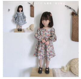 韓国ファッション 韓国子供服 ワンピース 2020春夏新作 子供服 キッズ女の子  7-15 2色