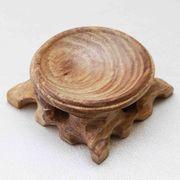 ウッドディスプレイ 天然木 ナチュラルウッド 花梨 かりん 木製 丸玉台座 Lサイズ 品番:7045