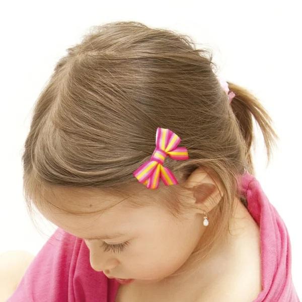 髪の毛や頭皮に優しいヘアークリップ! エンジェルズリボン(3個セット)