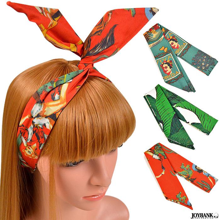 ヘアスカーフ3color スカーフ ヘアバンド バンダナ へアクセサリー ヘアアレンジ リボン
