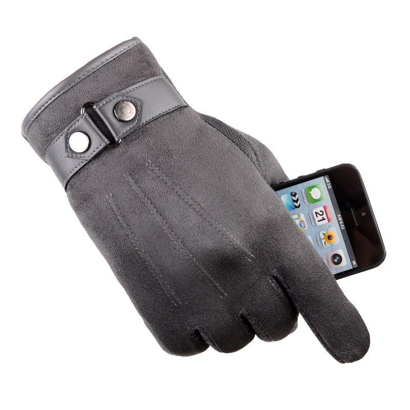 手袋 グローブ ヌバック裏起毛 スマホタッチ対応 冬物 防寒 防風 防寒