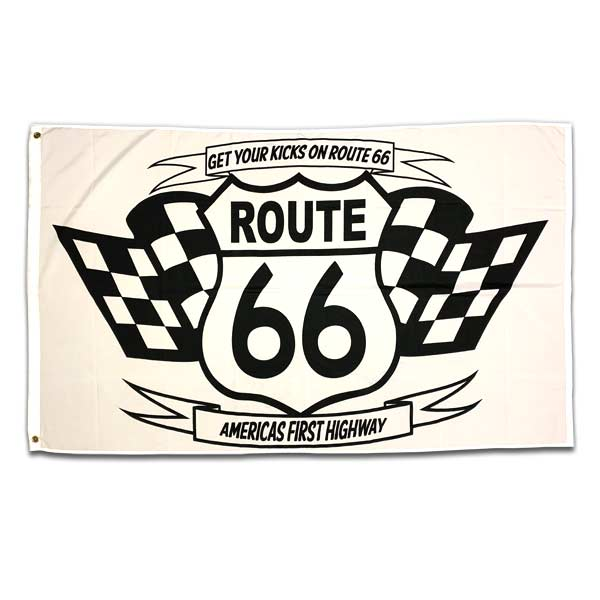 ROUTE66 FLAG(checker) / アメリカン フラッグ
