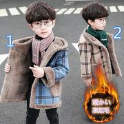 2021新品★子供ジャケット★子供コート♪キッズコート★チェック柄★裏起毛★オシャレ♪2色90-160