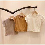 キッズ服 綿シンプルTシャツ -歳男の子女の子 韓国ファッション半袖シャツ 子供用服トップス夏新品