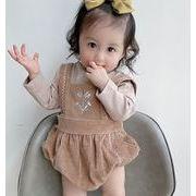 子供服 トップス ロンパース 2点セット キッズ 子ども かわいい 刺繍 トレンド おしゃれ 人気