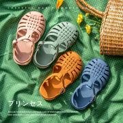 子供  夏の靴 サンダル 可愛い 女の子と男の子 滑り止め 水陸両用 14-19cm