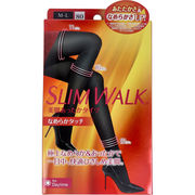 [12月24日まで特価]スリムウォーク 美脚あったかタイツ なめらかタッチ ブラック M-L