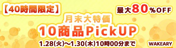 ★最大80%オフ★【10商品大特価!】月末ピックアップ特集