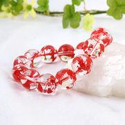 手彫り〈赤龍〉水晶(14mm)ブレスレット