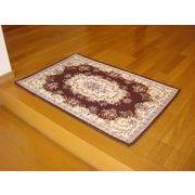 ゴブラン織り玄関マット:ボルドー 60x90 ブラウン